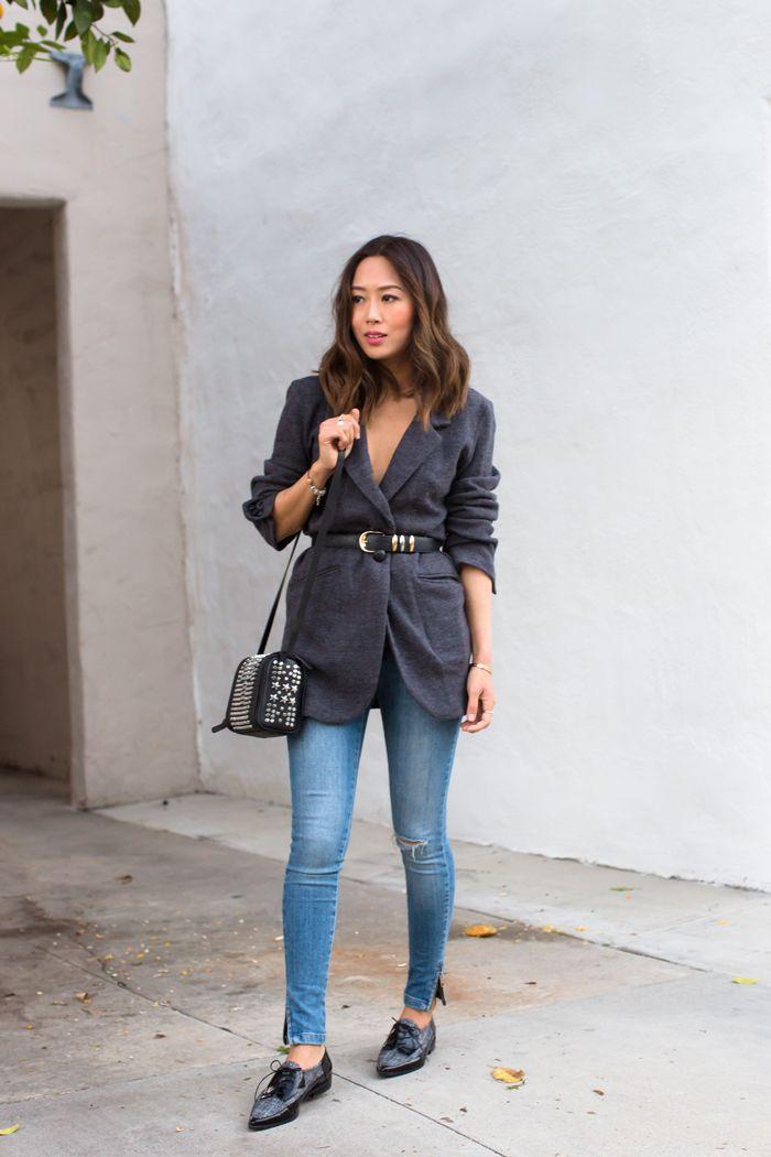 Belted Blazer and Skinny Jeans (via Bloglovin.com )