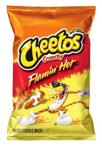 Cheetos Cheese Flavored Snacks, Crunchy Flamin' Hot, 2.38 Ounce Cheetos http://www.amazon.com/dp/B001IMXA6A/ref=cm_sw_r_pi_dp_H3Q9tb0QRQ2M6