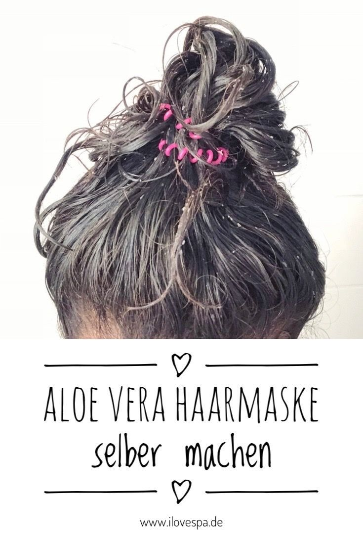 Diy Aloe Vera Haarmaske Diy Kosmetik Selber Machen Spa Zuhause