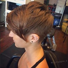 layered short pixie cut with long bangs