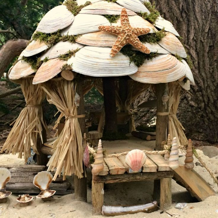 fairy house made out of shells - Google Search