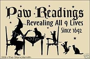 HALLOWEEN: Readings Sign, Holiday, Photos, Primitive Paw, Black Cats, Paw Readings, Halloween Signs