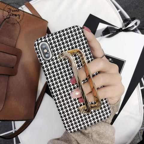 Black & White Fabric iPhone Cute Phone Cases From Touchy Style Outfit Access…