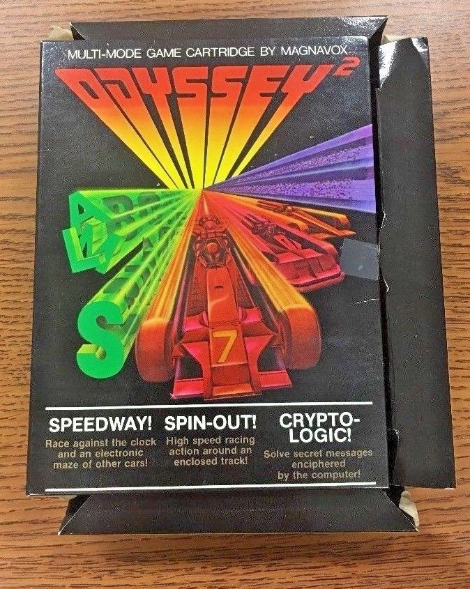 Speedway, Spin-Out & Crypto-Logic - Magnavox Odyssey 2 Game - In Box GUC