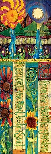 Restore the Mind, Body and Soul any avid gardener knows this to be true! Healing Garden Art Pole is durable vinyl, a cool reproduction of hand painted and wood burned artwork. A simple message with vi