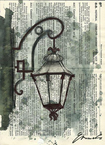 Print Artwork Valentine Reward Ink Dessin Aquarelle