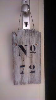DIY: Klusjes in huis: Huisnummer maken house number