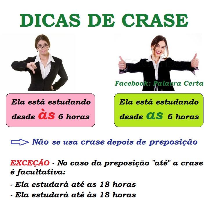 Dicas de Crase #portugues