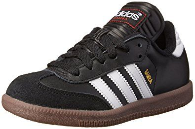 Adidas Samba Classic Leather Soccer Shoe (Toddler/Little Kid/Big Kid),Black/ White,4.5 M US Big Kid