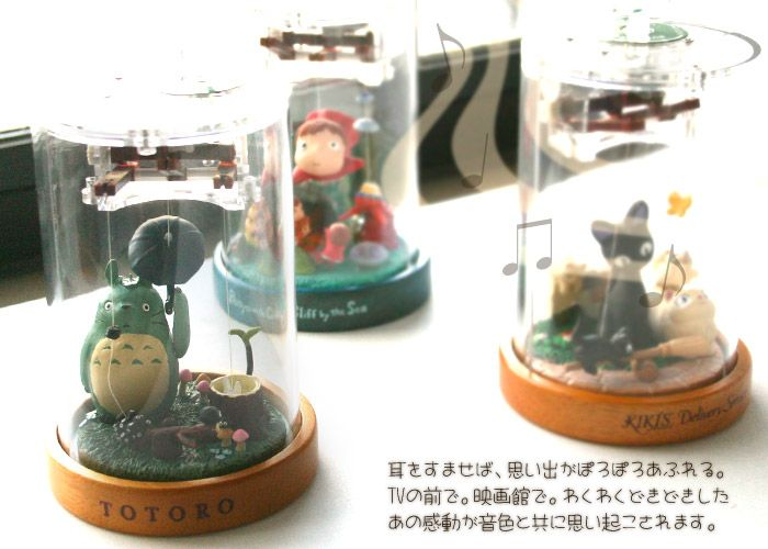 Caixinhas de música Ghibli