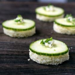 Cucumber, Chive Butter Tea Sandwich recipe
