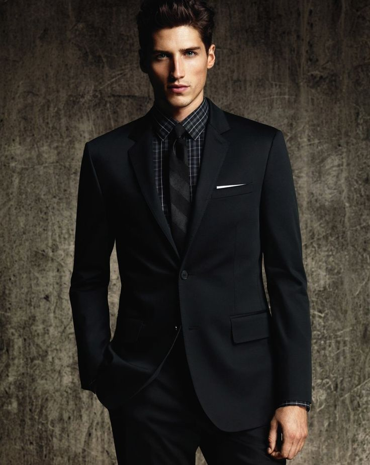 18 best Men in Black - Suits & Ties images on Pinterest | Menswear ...