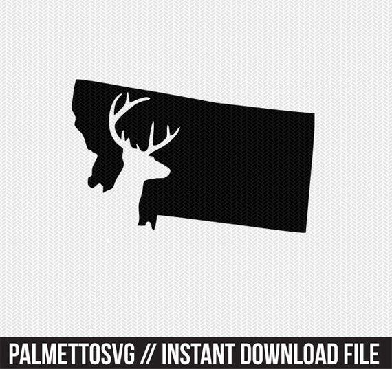Montana deer hunt Svg, Dxf, Cricut Downloads, Silhouette Cut