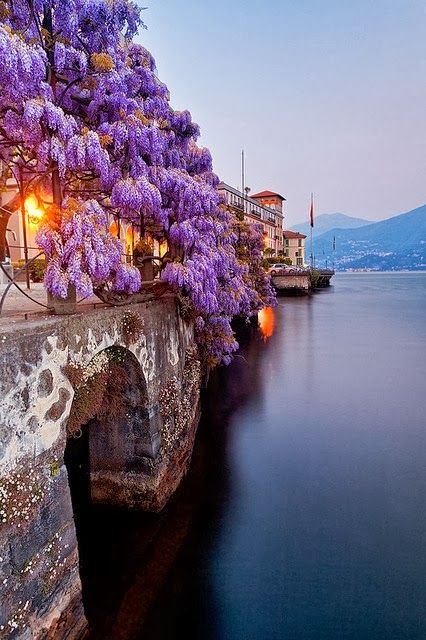 Lake Como, Italy... Just when I thought that I had seen it all, my eyes get yet another wonderful surprise...I just love this picture.                                                                                                                                                     More