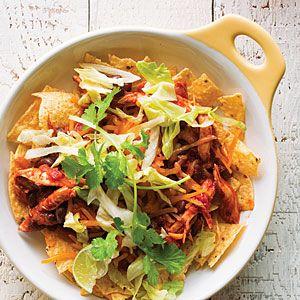 Chicken Enchilada Nacho Bowls