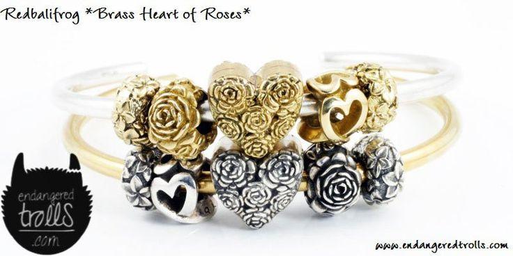 Redbalifrog Brass Heart of Roses