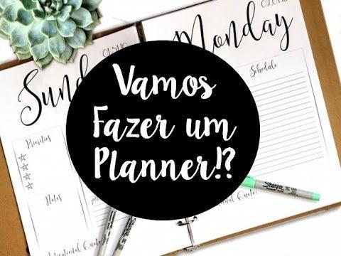 DIY: Planner de Estudo [Volta às aulas] - YouTube