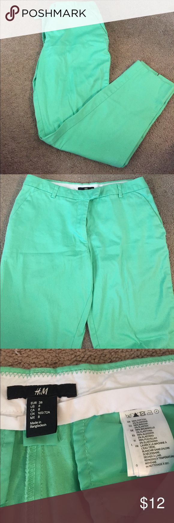 H&M mint green pant Dressy pants. No stains or rips. Zipper works great and only wore maybe two times H&M Pants