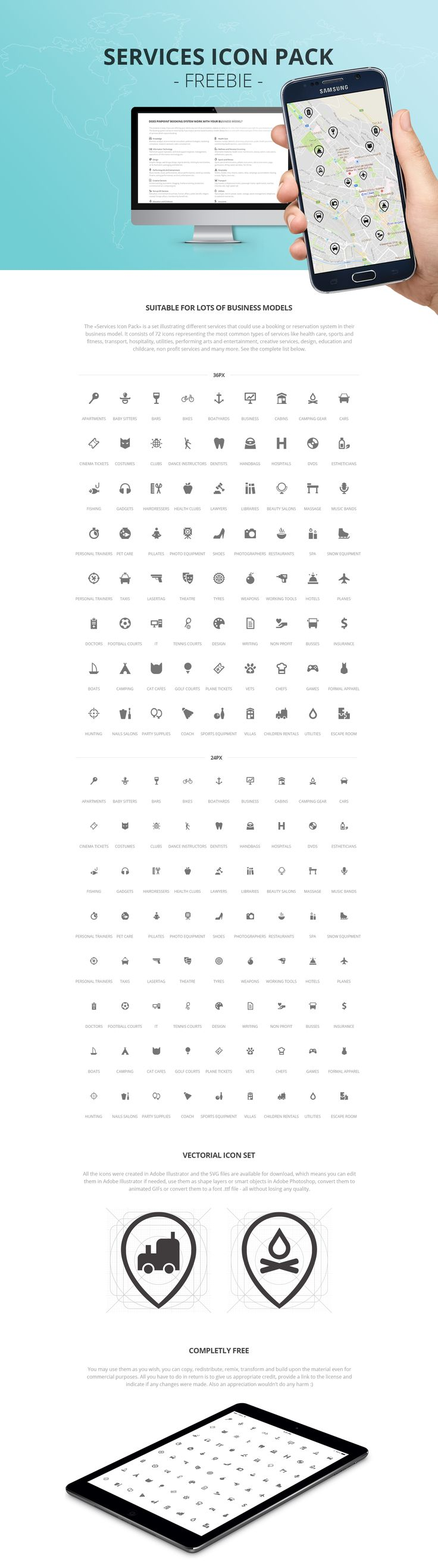 Services Icon Pack - Freebie