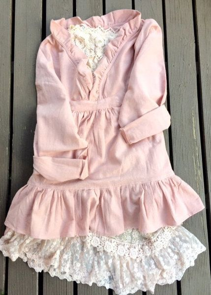 pale rose pink smock top.. cotton rose by MissRoseSisterViolet
