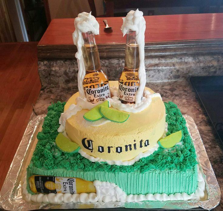 Pastel de cerveza corona