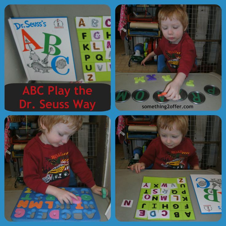Dr. Seuss is such a great set of books for so many uses! Here are fun pre-k activities... ABC Play the Dr. Seuss Way