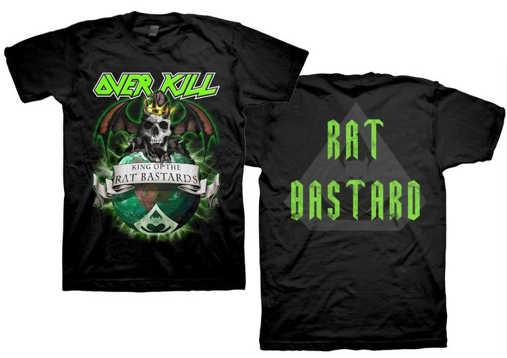 overkill king of the rat bastards tshirt for 1995 http