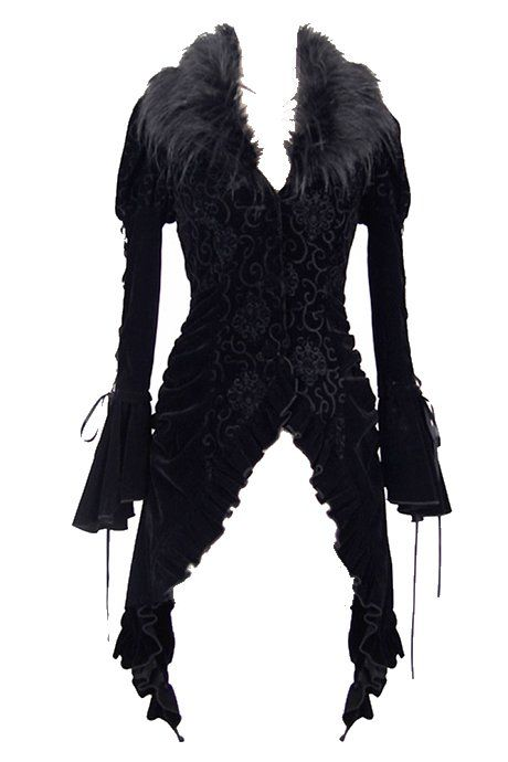 Poison Ivy Swallow Tail Corseted Gothic Jacket by Devil Fashion