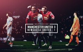FT: United 3 Newcastle 1. The Reds ensure plenty of Christmas cheer at Old Trafford thanks to goals from Wayne Rooney (2) and Robin van Persie. A late Papiss Cisse penalty was the visitors' only consolation. unbeaten #REDS ..... YAAY . next ???? :) :)