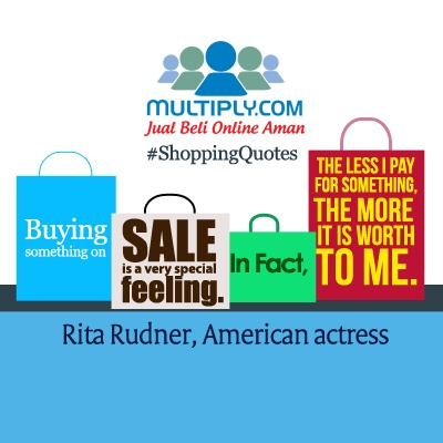 """Buying something on sale is a very special feeling. In fact, the less I pay for something the more it is worth to me."" - click http://multiply.com/marketplace/supersale?utm_source=pinterest to check out what's on sale today"