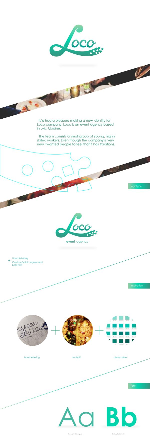 Loco - event agency, identity on Behance