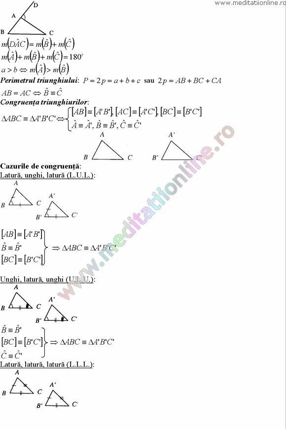 Formule matematica gimnaziu 5 8 Formule si teorie Geometrie plana si in spatiu si Trigonometrie pagina 3