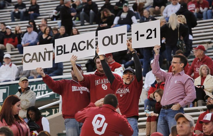 Sooner fans get ready for start of NCAA college football game between the University of Oklahoman (OU) Sooners and the Baylor Bears at Floyd Casey Stadium in Waco, Texas, Thursday, Nov. 7, 2013. The game tonight is sold out. Photo by Jim Beckel, The Oklahoman