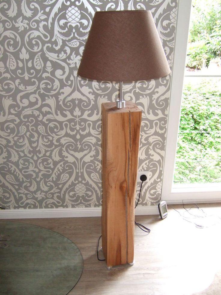 die besten 25 stehlampe holz ideen auf pinterest led. Black Bedroom Furniture Sets. Home Design Ideas