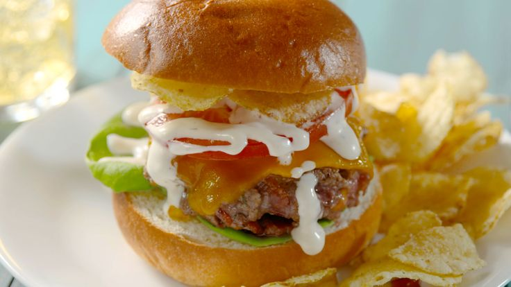 Bacon Cheddar Ranch Burgers: These Bacon Cheddar Ranch Burgers will change the way you grill - they have the perfect ratio of cheese to meat.