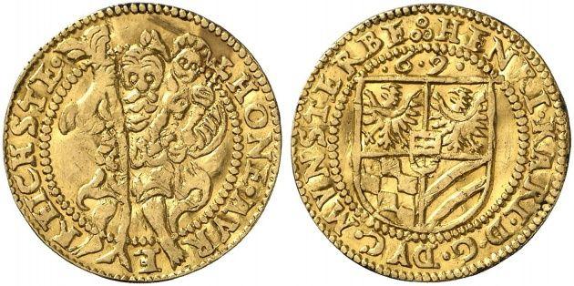 Heinrich III. und Karl II., 1562-1587. Dukat 1569, Reichenstein. Fb. 3236; F. u. S. 2141; Müseler 57.1/68; Slg. Vogelsang -.