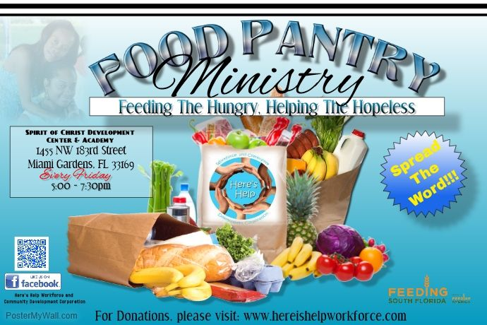Free Psd Poster Template Community Food Drive