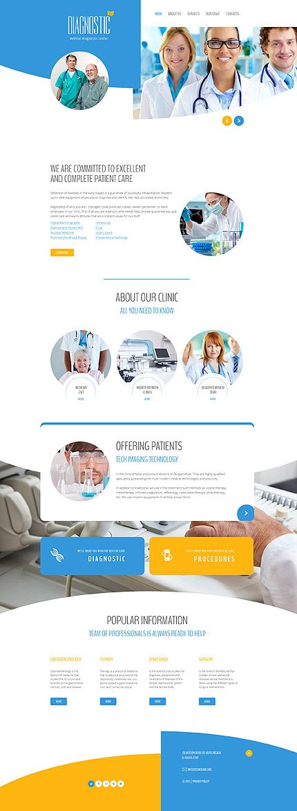 Template 58241 - Diagnostic Center Responsive Website Template
