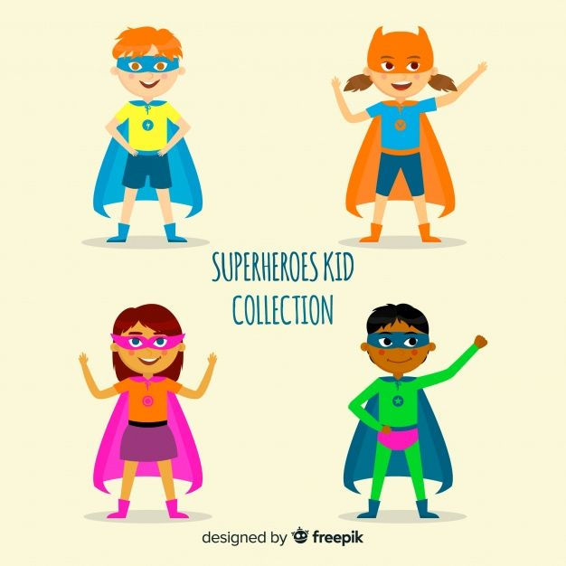 Download Pack Of Superhero Kids For Free With Images Superhero
