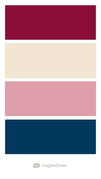 Burgundy, Champagne, Blush, and Navy Wedding Color Palette - custom color palette created at MagnetStreet.com