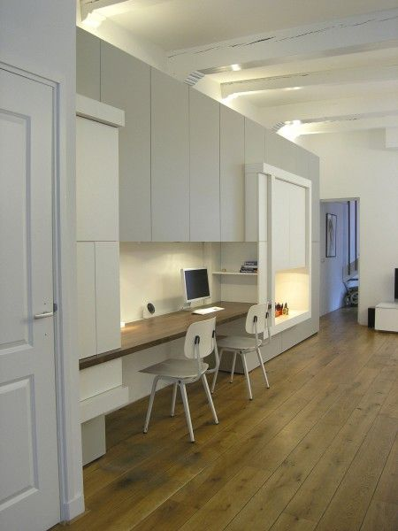 Werkplek met veel bergruimte portfolio maurits marieke pinterest kast kasten op - Eigentijdse designer kasten ...