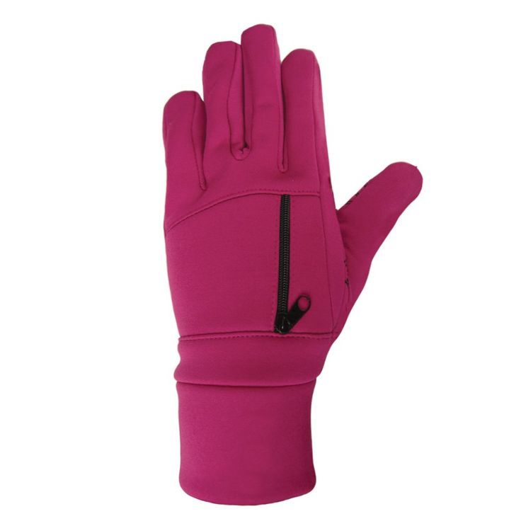 Igloos Girls Softshell Fleece Pro-Text Gloves, Magenta, One Size. PRO-TEXT Touch Sensitive Technology. Allows you to Text while wearing your gloves. Made from Soft-shell Fleece.