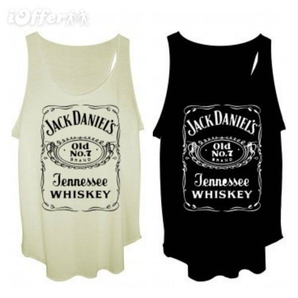 Jack Daniels Tank Top Black White Liked On Polyvore Featuring Tops Shirts