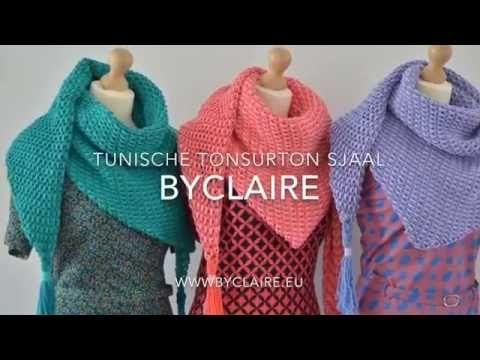 byClaire - tunisch gehaakte sjaal - TonSurTon - YouTube