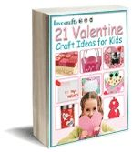 Free kids Valentine crafts ebook - includes a cute 'string of hearts' necklace project. #valentines #valentines day #craft