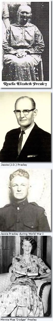 Jessie D. McDowell (J.D.) Presley : Elvis Presleys Grandfather : Elvis Presley Biography : Elvis Australia Official Elvis Presley Fan Club :