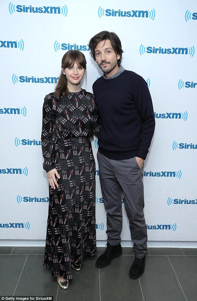 Star Wars: She was joined by her co-star Diego Luna, 36, at the Sirius XM studios in NYC...