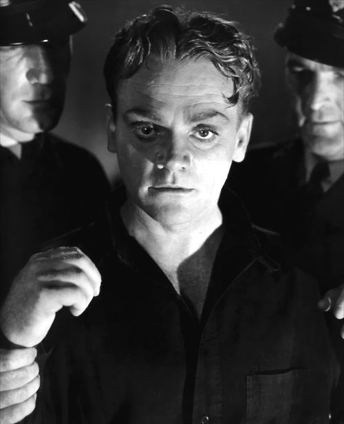 "Rocky Sullivan (James Cagney): [facing the electric chair] ""No! I don't want to die! Oh, please! I don't want to die! Oh, please! Don't make me burn in hell. Oh, please let go of me! Please don't kill me! Oh, don't kill me, please!"" -- from Angels with Dirty Faces (1938) directed by Michael Curtiz"