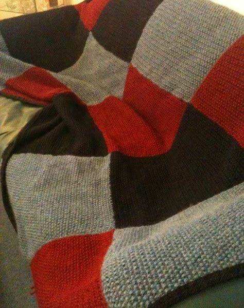 Gestrickte Patchworkdecke Decken Pinterest Stricken Deckchen