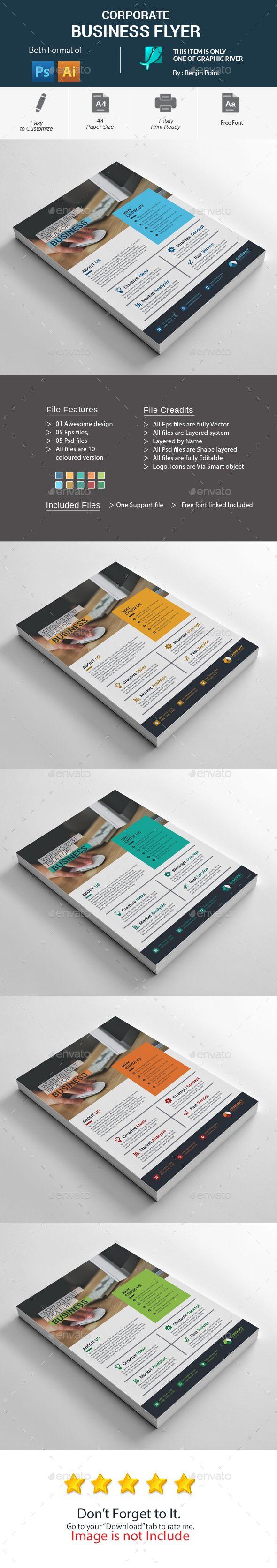 Corporate Business Flyer Template PSD, Vector EPS, AI Illustrator